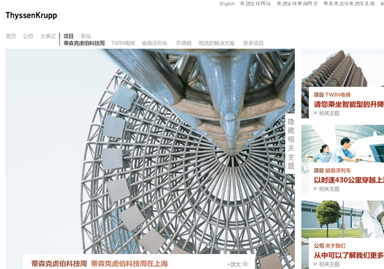 ThyssenKrupp China Website